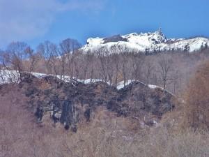 残雪の有珠山