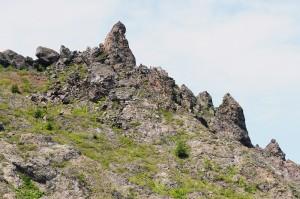大有珠の岩塔