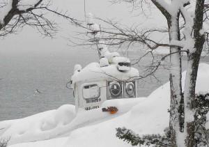 冬のロボット