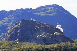 昭和新山ドームの噴気