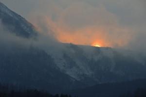 有珠山 外輪の夕日