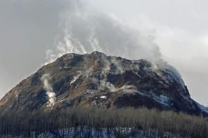 昭和新山の噴気
