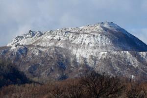 有珠山の雪