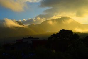 黄昏の有珠山
