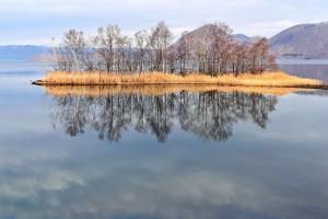 洞爺湖春の予感